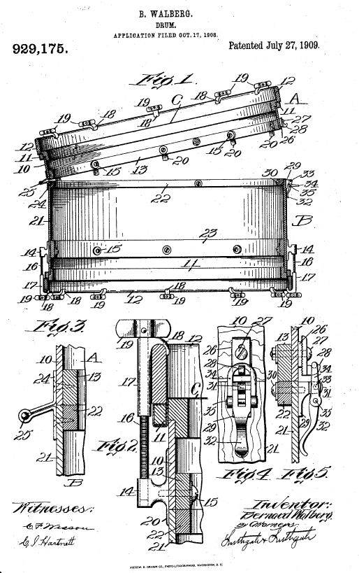 Patent US929175 - CarryAll Bass Drum.JPG